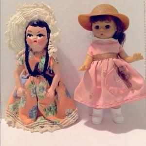 Gorgeous vintage plastic dolls